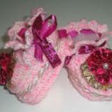 Como Fazer um Sapatinho de Bebê em Crochê