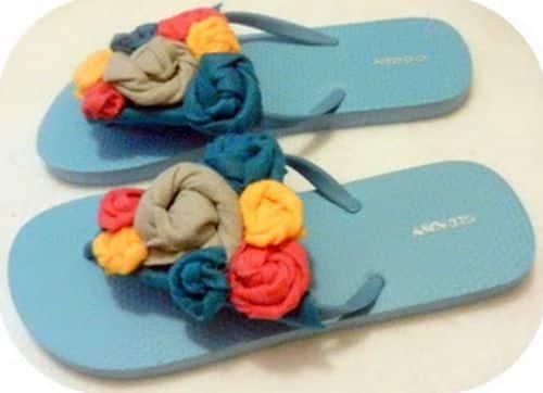 Você pode customizar chinelo com feltro também para vender (Foto: craft-craft.net)