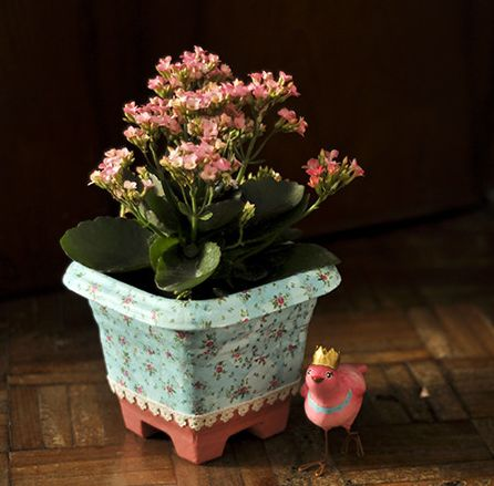 Como decorar vasos de planta simples - Decorar vasos plasticos para cumpleanos ...