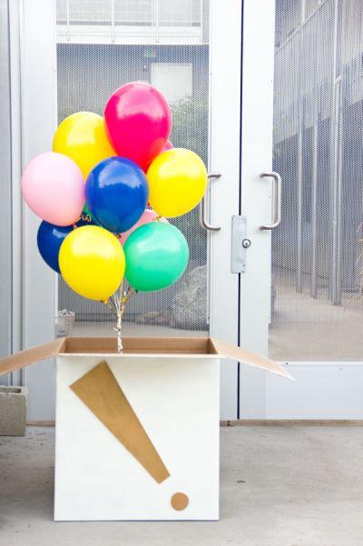 Esta caixa surpresa com balões é sucesso garantido (Foto: studiodiy.com)