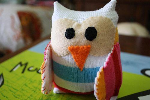 Estas fofas corujinhas de meia vão alegrar o seu dia (Foto: coolcreativities.com)