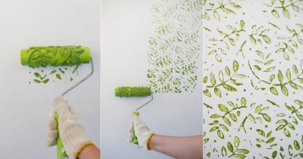 Como fazer pintura carimbo em paredes for Pintura metalizada para paredes
