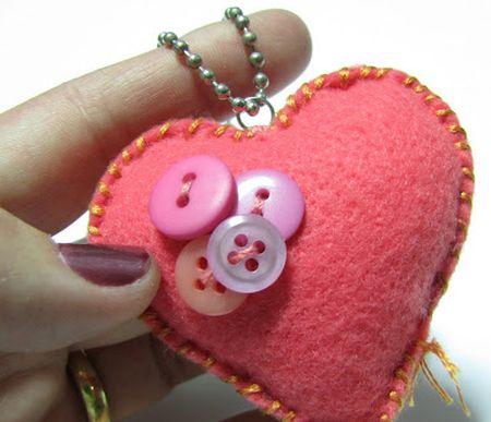 Este coração de feltro pode ser usado de várias maneiras (Foto: craftblender.com)