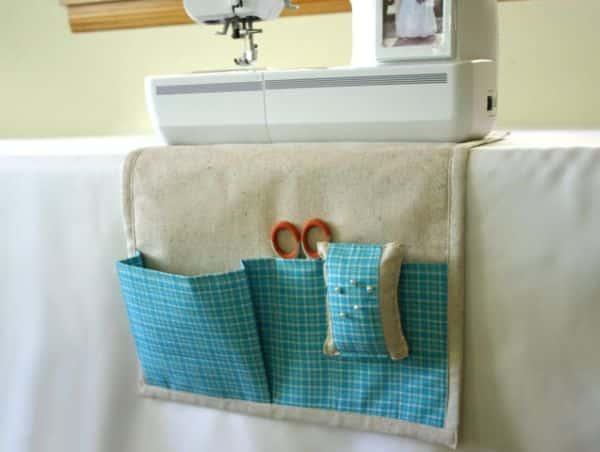 Organizador para máquina de costura é ótima opção para deixar os seus trabalhos mais práticos (Foto: howjoyful.com)