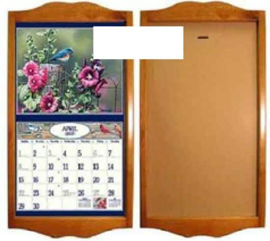 Este porta-calendário para cozinha também pode ser usado como objeto de decoração (Foto: mudpiestudio.blogspot.com.br)