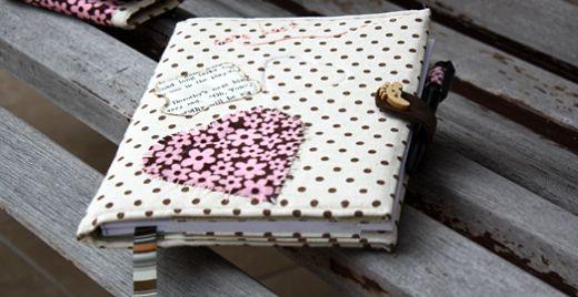 Você também pode vender esta capa de caderno em tecido (Foto: craftpassion.com)