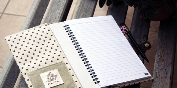 [Artesanato com Tecido] Como Fazer Capa de Caderno em Tecido