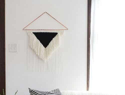 Enfeite de Parede Feito com Lã