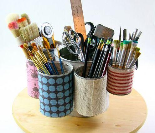 Este porta lápis e caneta reciclado vai fazer o maior sucesso (Foto: cynthiashaffer.typepad.com)