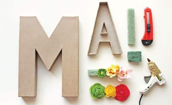 Как красиво сделать буквы из картона