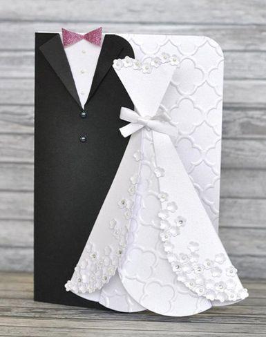 Com este simpático cartão para noivos o seu presente vai fazer o maior sucesso (Foto: sizzixukblog.blogspot.com.br)
