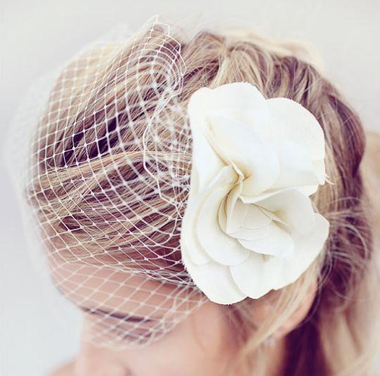 Véu gaiola é misterioso, é lindo e pode de ser feito em casa (Foto: weddingchicks.com)