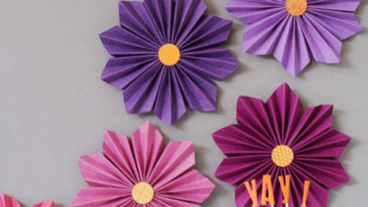 Como Fazer Flores De Papel Sanfonadas