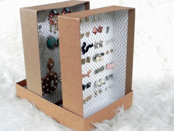 Como fazer um porta brincos com caixa de sapato for Cajas personalizadas con fotos