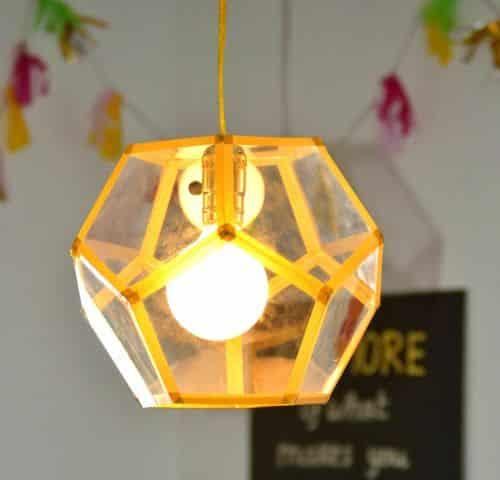Como Fazer uma Luminária com Folhas de Acetato