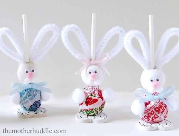 Easter Bunny Suckers Craft