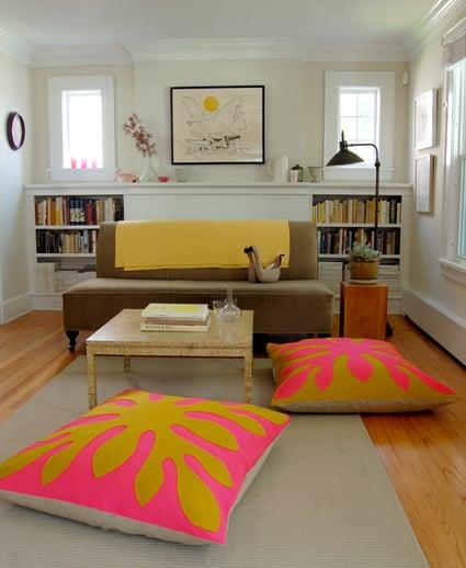 Decorar almofadas com feltro pode renovar o décor de seu ambiente (Foto: purlbee.com)