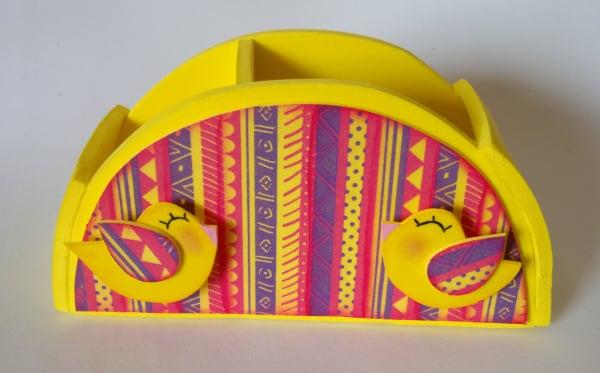 Este porta tudo em EVA pode guardar qualquer item que você quiser (Foto: ateliekreateva.com.br)