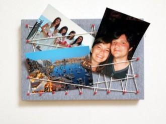 Como Fazer um Quadro de Fotos Trançado