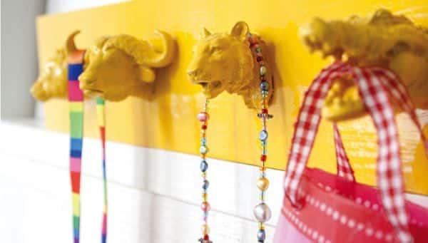 Suporte para quarto infantil pode ter a cor que a sua criança quiser (Foto: pysselbolaget.se)