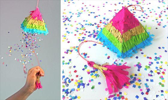 Esta colorida pinhata para festa infantil vai deixar as crianças enlouquecidas em sua festa (Foto: happythought.co.uk)