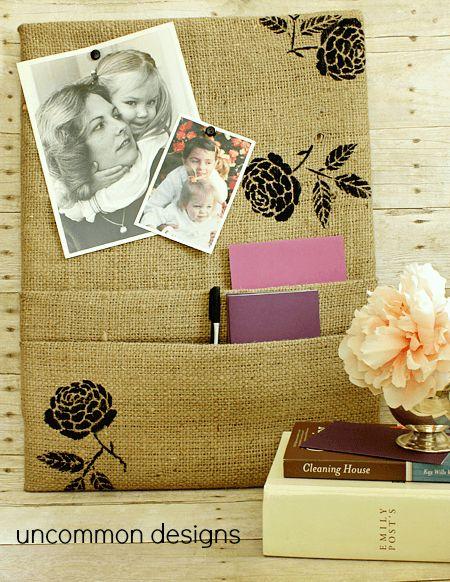 Faça um organizador rústico para o seu home office (Foto: uncommondesignsonline.com)