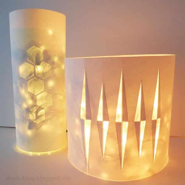 Esta luminária de mesa com garrafa pet tem modelo sofisticado e elaborado (Foto: ohohblog.com)