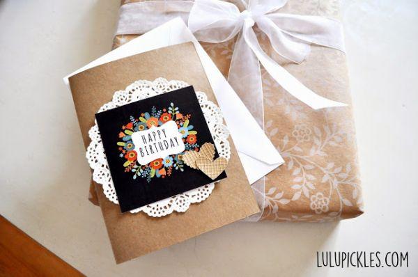 Cartão de aniversário personalizado pode ser único e exclusivo e agrada em cheio (Foto: lulupickles.com)