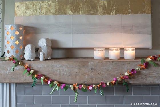 Estas flores de papel para decoração podem ter as cores que você quiser (Foto: liagriffith.com)