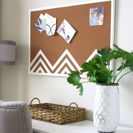 Personalizando quadro de avisos você tem uma peça multiuso, uma peça útil e decorativa ao mesmo tempo (Foto: thisishappinessblog.blogspot.com.br)