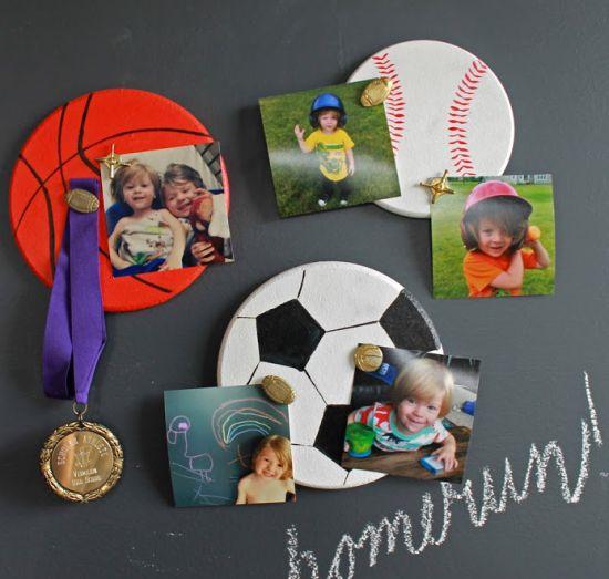 Como Fazer Porta-Retrato Infantil Esportivo