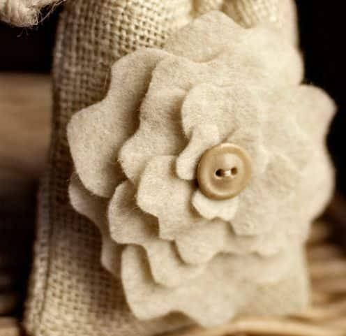 Molde de Flor de Feltro para Imprimir