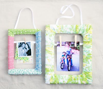 Decorar moldura de quadro com restos de tecido vai até deixar as suas fotos mais bonitas (Foto: thecreativeplace.blogspot.com.br)