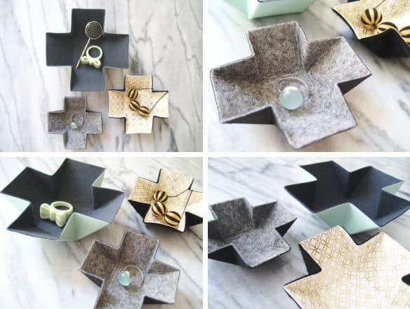 Porta-joias de feltro é útil e ainda decora (Foto: adorablest.wordpress.com)