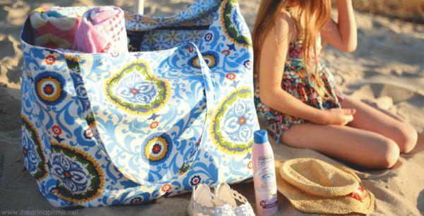 Bolsa Em Tecido Para Praia : Como fazer bolsa de praia passo a