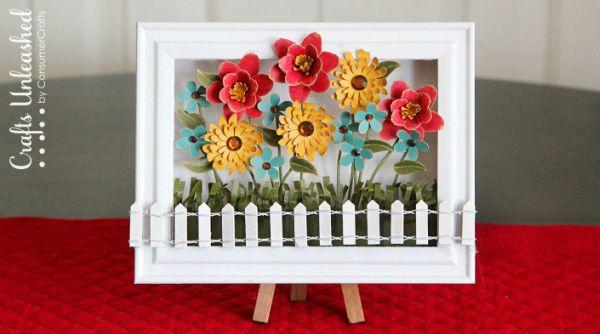 Este quadro decorativo para ateliê pode ter as suas flores preferidas (Foto: craftsunleashed.com)