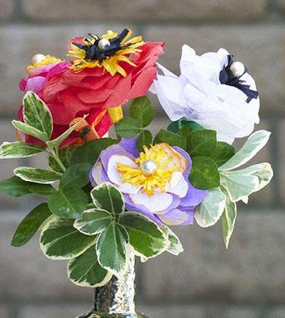 Este fácil artesanato com papel crepom é também muito lindo (Foto: cremedelacraft.com)