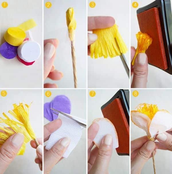 Como Fazer Artesanato com Papel Crepom