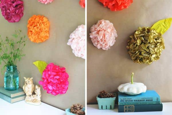 Como fazer flor de papel de seda para decorar - Papel para decorar ...