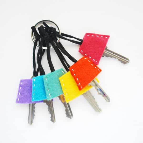 Personalizar chaves com feltro é muito fácil (Foto: wildolive.blogspot.com.br)