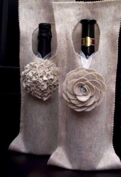 Faça esta ideia barata de embalagem de presente para vinhos para os seus entres queridos (Foto: bellartatelier.blogspot.com.br)