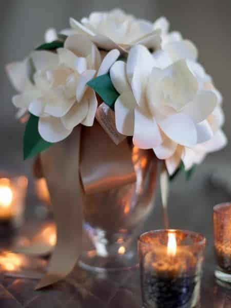 Como fazer flores de papel para centro de mesa - Centros de mesa de papel ...