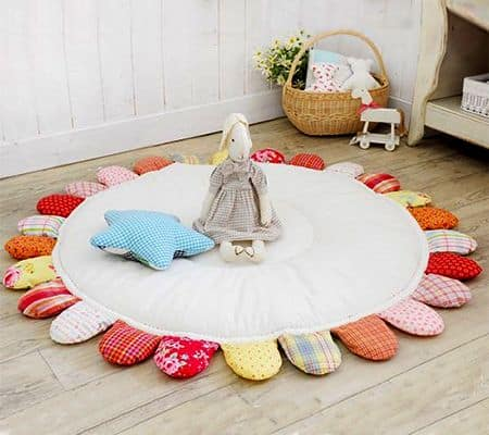 Este tapete de tecido para crianças pode ter as cores que você desejar (Foto: home-dzine.co.za)