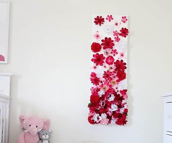 Aparador Feito De Paletes ~ Como Fazer Artesanato com Flores Artificiais