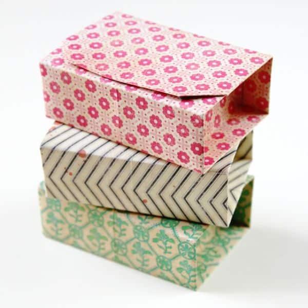 Como Fazer Caixas De Origami Com Tampa