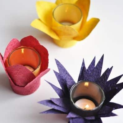 Como decorar porta velas com papel - Como decorar velas ...