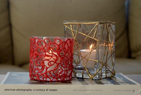 Comece já a decorar suporte para velas (Foto: curbly.com)