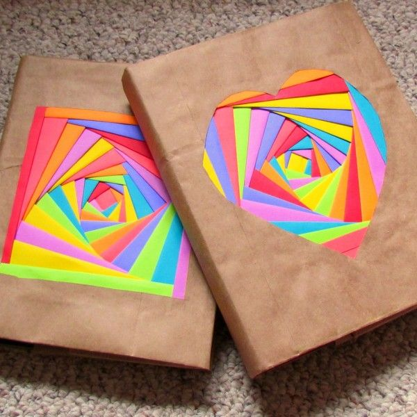 Comece já a encapar caderno de forma criativa para renovar os seus (Foto: suzyssitcom.com)