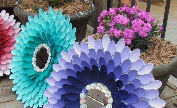 Como Fazer Artesanato com Colher de Plástico