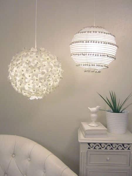 Lanternas de papel decoradas são lindas e baratas de serem conseguidas (Foto: craftynest.com)
